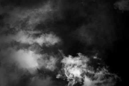 white cloud and black sky textured background
