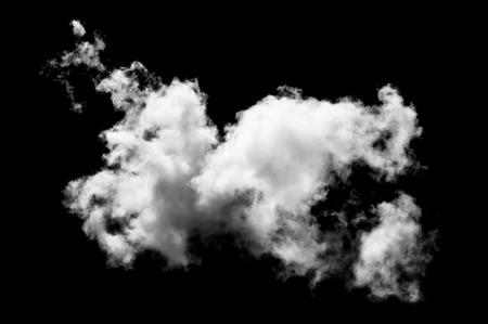 Textured Smoke,Abstract white,isolated on black background Stock Photo