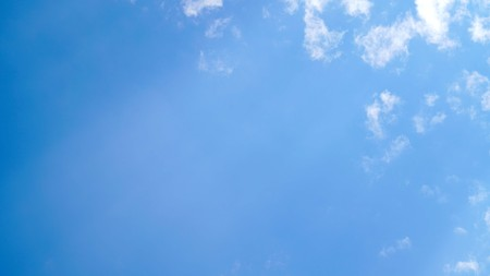 White cloud and blue sky background with copy space Stock Photo