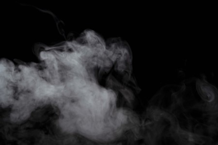 Abstract powder or smoke effect isolated on black background,Out of focus