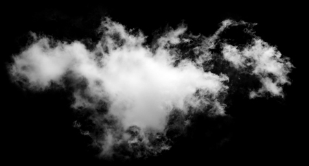 Textured Smoke,Abstract white,isolated on black background 免版税图像