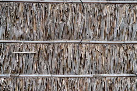 Roof or wall made from dry nypa palm leaves pattern Stock fotó