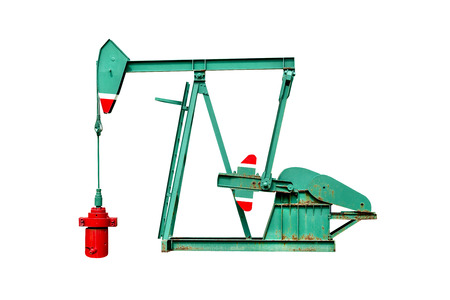 oil pump isolated on white backgrounds ,include clipping path
