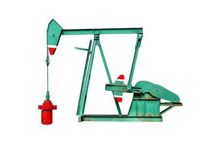 Pompe à huile isolée sur fond blanc, inclure un tracé de détourage