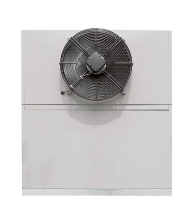 compressor unit of air conditioner isolated on white background ,include clipping path