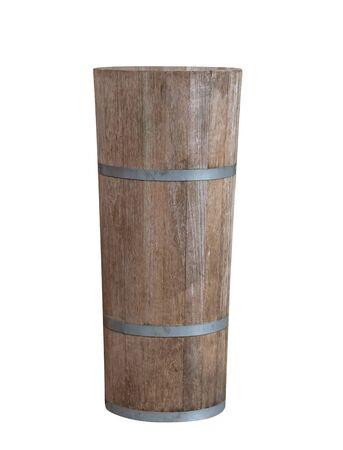 Wooden bucket isolated on background