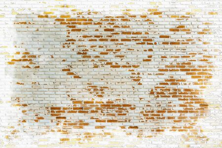 Gray orange bricks wall pattern, watercolor digital painting style
