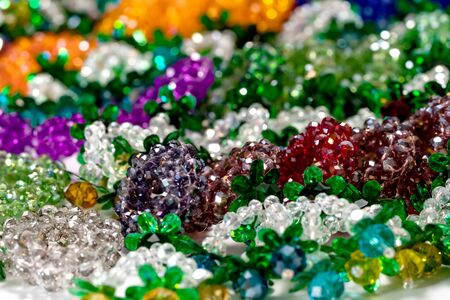 colorful garland crystal beads pattern style thai