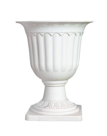 White vase empty isolated on white background 版權商用圖片