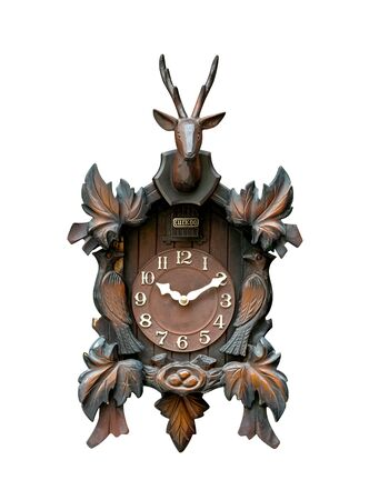 Cuckoo Clock isolated on white background Stock Photo