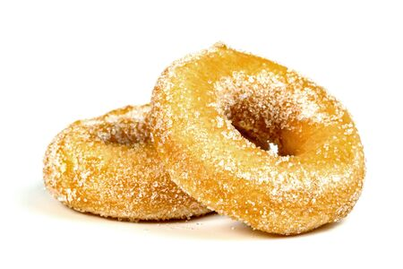 sugar ring donut isolated on white background Stock Photo
