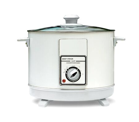 deep fryer machine isolated on white background ,include clipping path