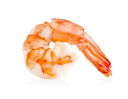shrimp isolated on white background ,include clipping path