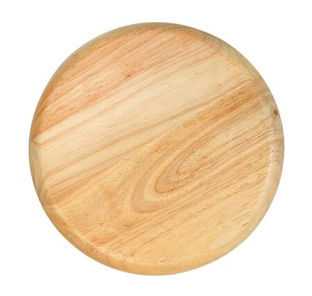 Wooden plate isolated on white background ,include clipping path