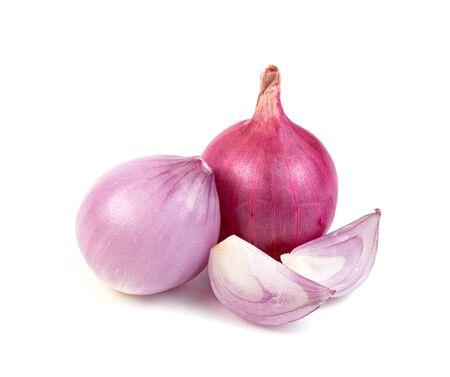 shallots onion chopped isolated on a white background Reklamní fotografie