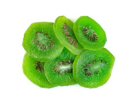 dried kiwi fruit isolated on white background