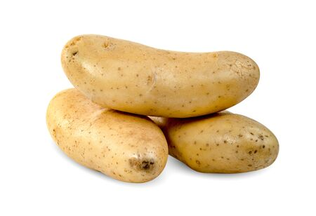 potatoes isolated on white background ,include clipping path