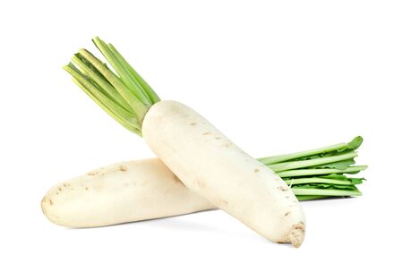 Radish isolated on white background ,include clipping path