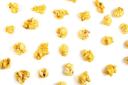 Popcorn isolated on white background Фото со стока