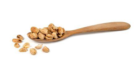roasted peanuts isolated on white background Stock Photo