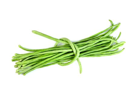 Long bean or cowpea isolated on white background