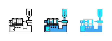 Spritzguss-Symbol isoliert auf weißem Hintergrund für Webdesign