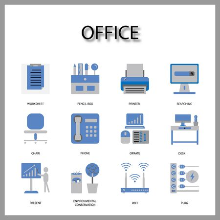 Office equipment icon isolated on white background for web design