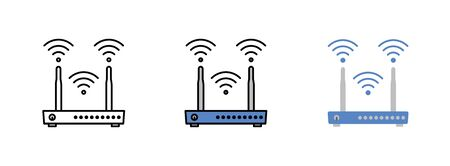 Router icon isolated on white background for web design