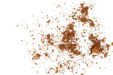 Cocoa powder isolated on white background Standard-Bild