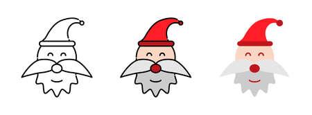 Santa Claus icon set  isolated on white background for web design