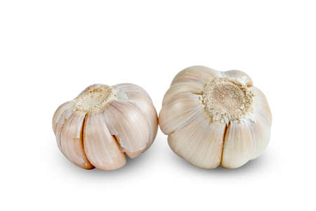 garlic isolated on white background Reklamní fotografie