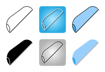 handsaw icon set isolated on white background for web design