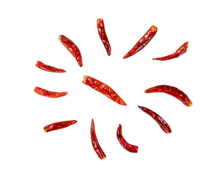 red ground paprika or dry chili pepper isolated on white background Zdjęcie Seryjne
