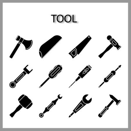 tool icon set isolated on white background for web design