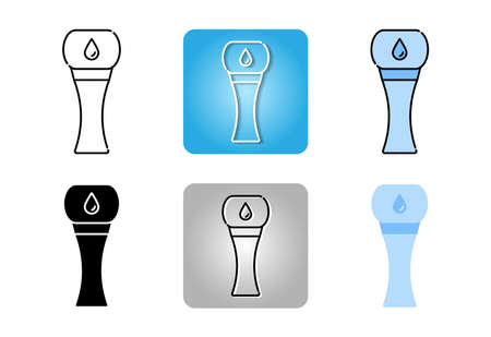 water tank tower icon set isolated on white background for web design