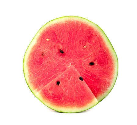 watermelon sliced isolated on white background Zdjęcie Seryjne