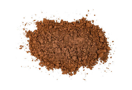 Cocoa powder isolated on white background Zdjęcie Seryjne