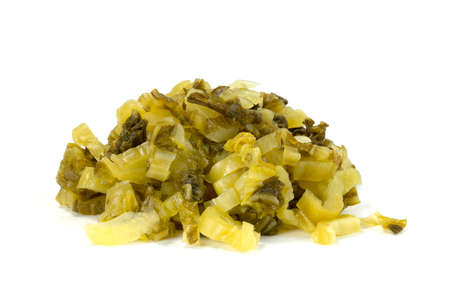 pickled Chinese Cabbage sliced isolated on white background
