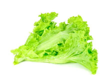 Lettuce leaf isolated on white background ,Green leaves pattern ,Salad ingredient Banque d'images