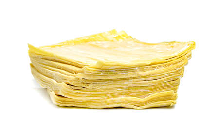 wonton wrapper isolated on white background