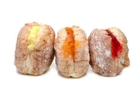 Polish donut isolated on white background