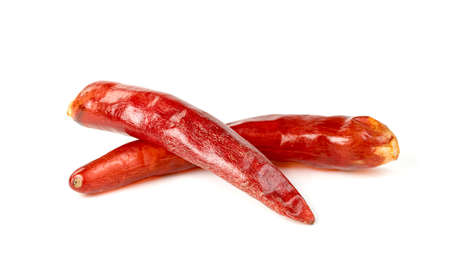 red ground paprika or dry chili pepper isolated on white background Standard-Bild