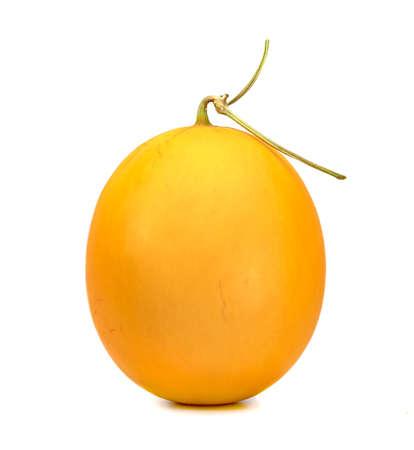 Orange cantaloupe melon smooth skin isolated on white background