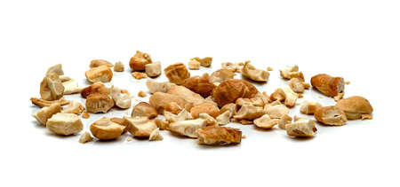 broken roasted cashew nuts isolated on white background Stock fotó