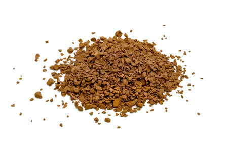 Instant coffee powder isolated on white background Stock Photo