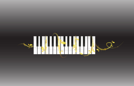 Silhouette of Piano and Melody