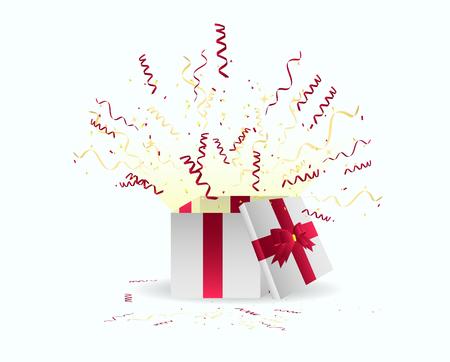 Surprise Happy Birthday Gift Illustration