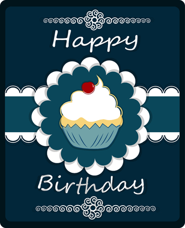 cake birthday: Happy Birthday Card