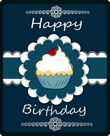 gateau anniversaire: Happy Birthday carte