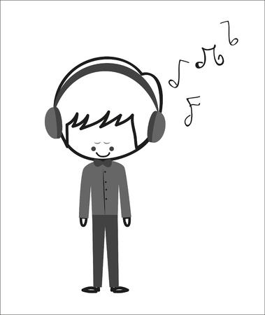Doodle Boy luistert muziek
